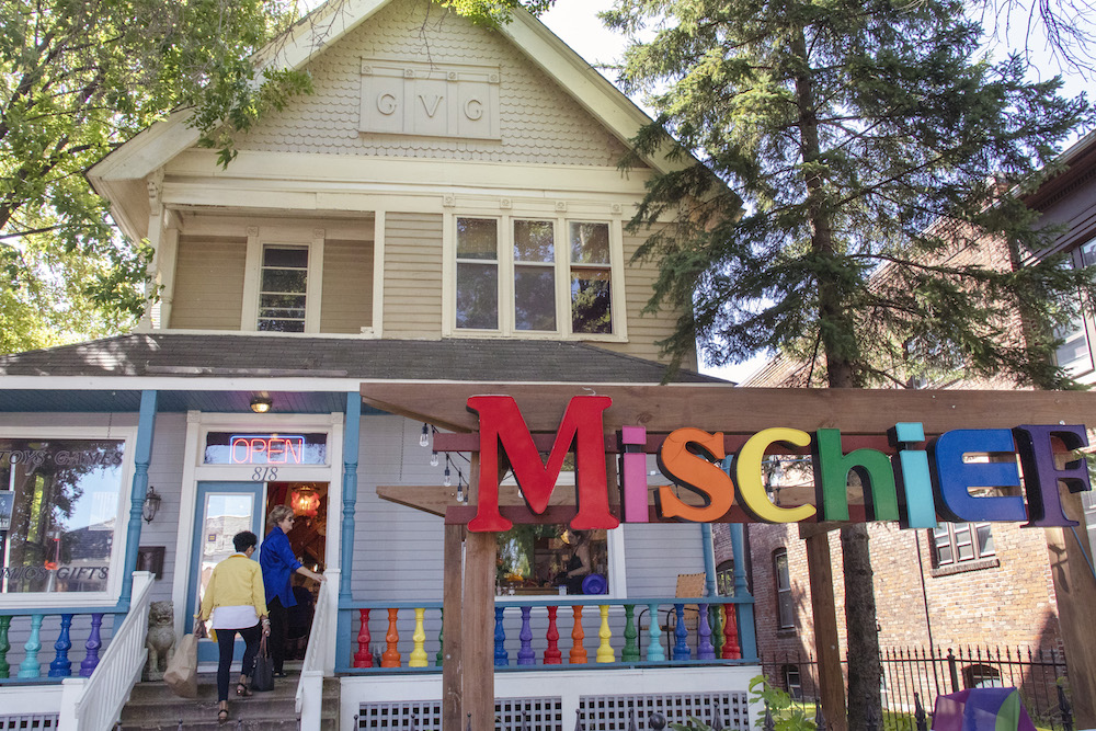 Mischief toy store on Grand Avenue in Saint Paul